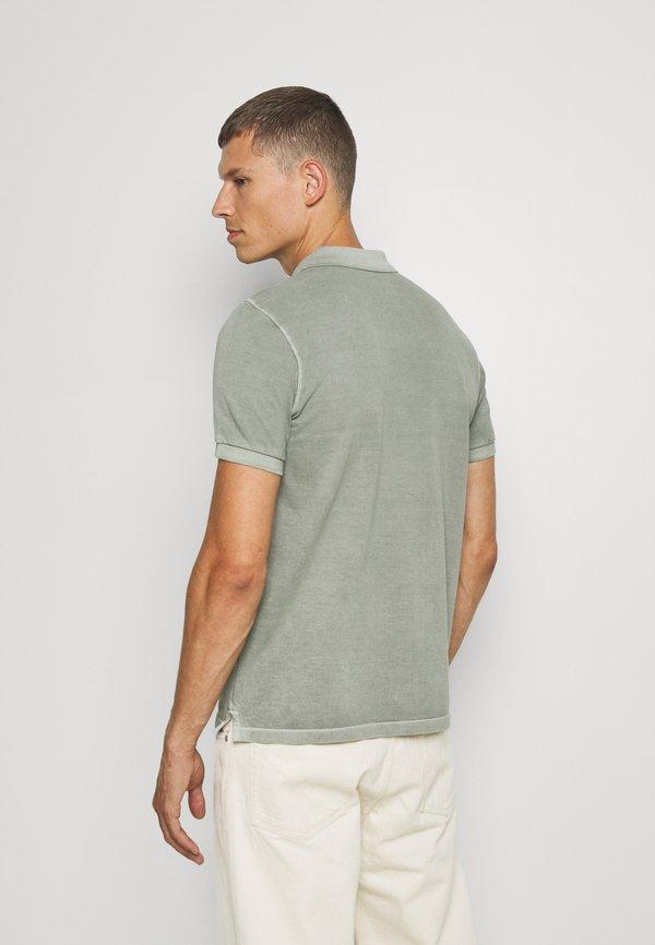 Marc O'Polo SHORT SLEEVE BUTTON PLACKET - Koszulka polo - shadow/szary Odzież Męska CCKU