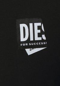 Diesel - JUST LAB UNISEX - Print T-shirt - black - 5