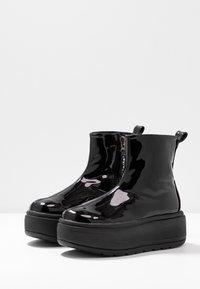 Coolway - RUIAN - Platåstøvletter - black - 4