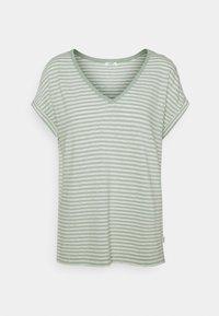 Marc O'Polo DENIM - SHORT SLEEVE WIDE BODYSHAPE VNECK - Print T-shirt - mint - 0