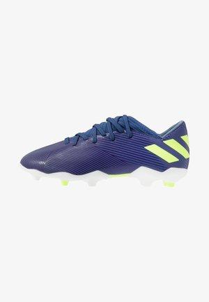 NEMEZIZ MESSI 19.3 FG - Voetbalschoenen met kunststof noppen - tech indigo/signal green/glow purple