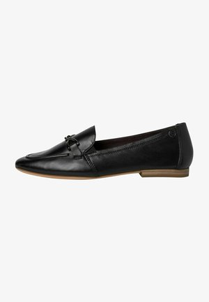 Smart slip-ons - black leather