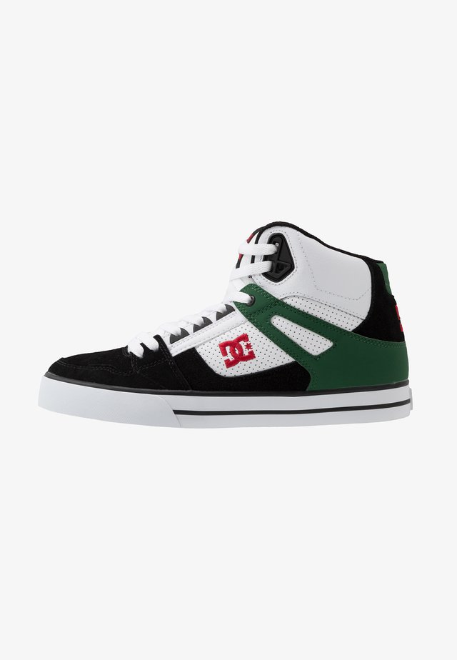 PURE - Skate shoes - white/green/black