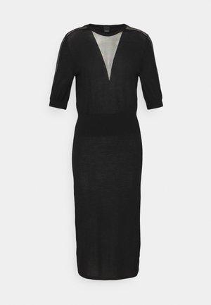 RALLY ABITO INTARSIO  - Gebreide jurk - black