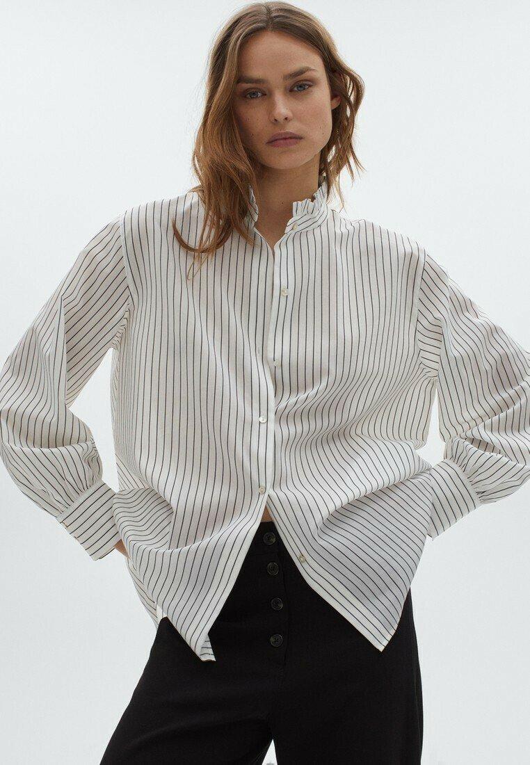 Massimo Dutti - Button-down blouse - white