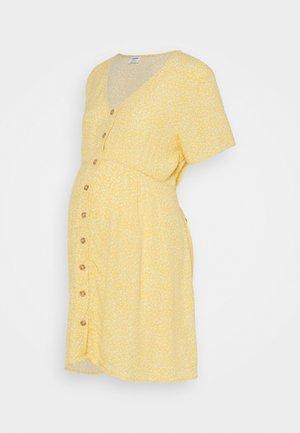 MATERNITY SHORT SLEEVE BUTTON FRONT DRESS - Hverdagskjoler - bamboo