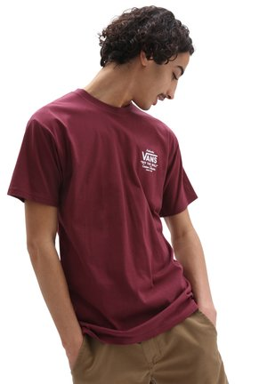 MN HOLDER ST CLASSIC - Print T-shirt - burgundy/white