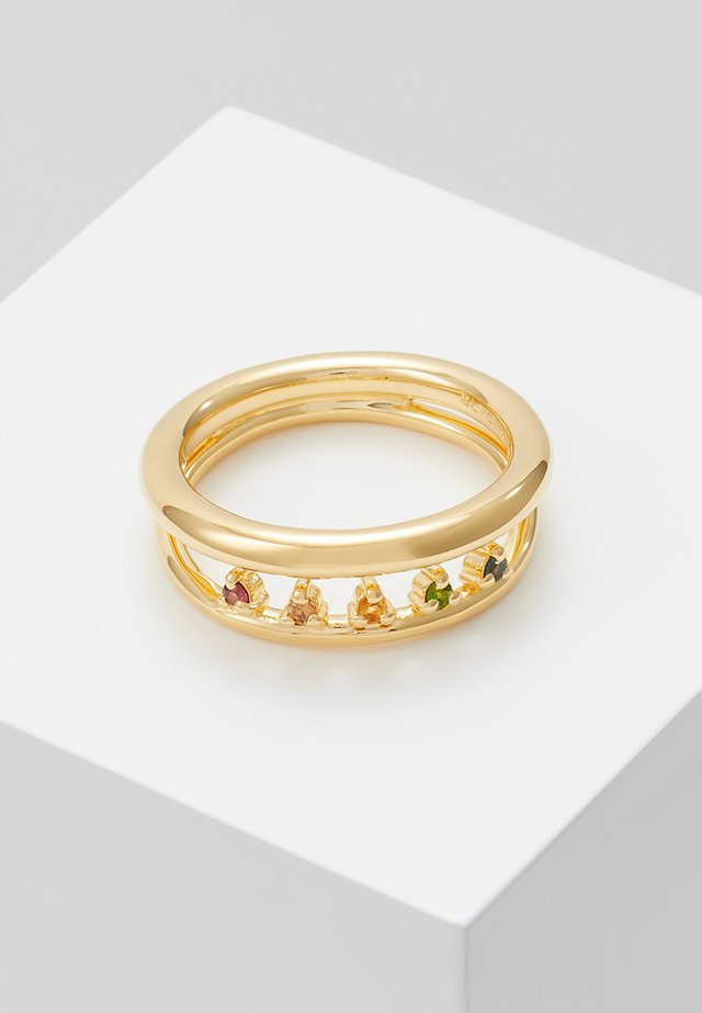 PRIYA RAINBOW - Sormus - gold-coloured
