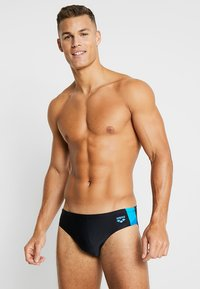 Arena - REN BRIEF - Swimming briefs - black/pix blue/turquoise - 0