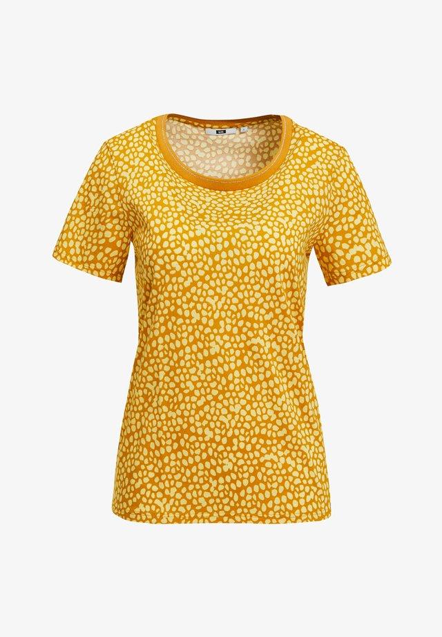 T-shirt z nadrukiem - mustard yellow