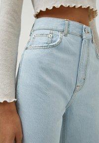 PULL&BEAR - Jeans Straight Leg - mottled dark blue - 3