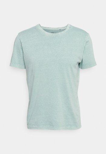 Basic T-shirt - light green melange