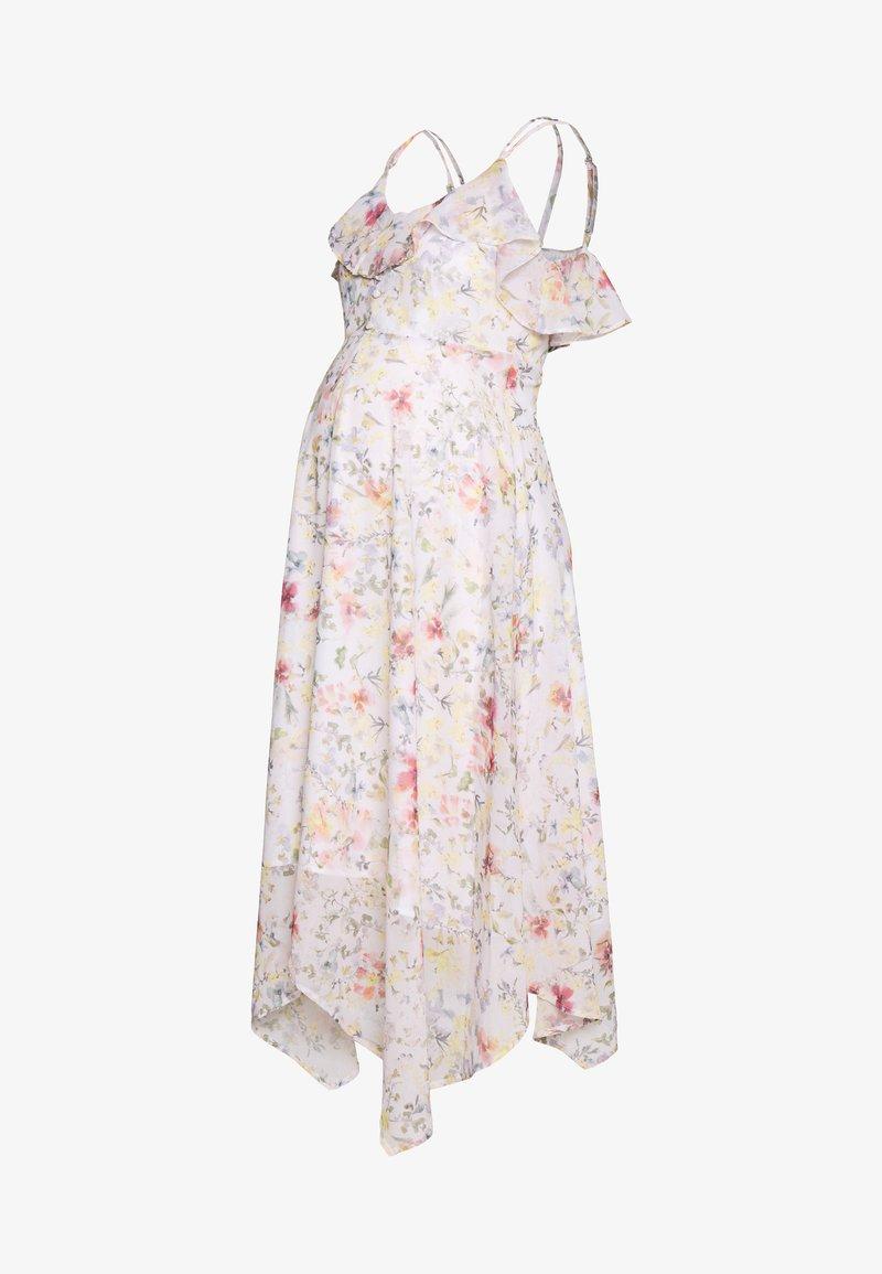 Hope & Ivy Maternity - MIDI BARDOT DRESS - Denní šaty - cream