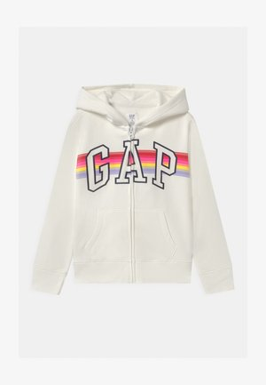 GIRL LOGO - veste en sweat zippée - milk fox