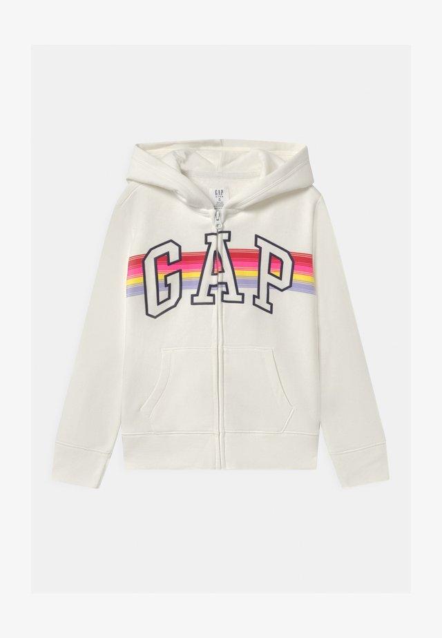 GIRL LOGO - Zip-up hoodie - milk fox
