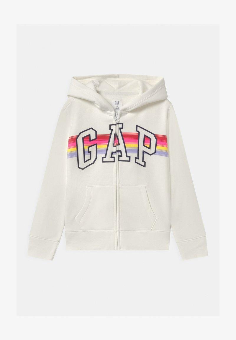 GAP - GIRL LOGO - veste en sweat zippée - milk fox