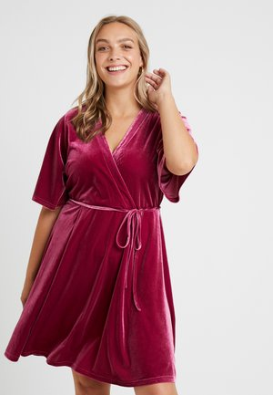 WRAP DRESS - Day dress - deep orchid