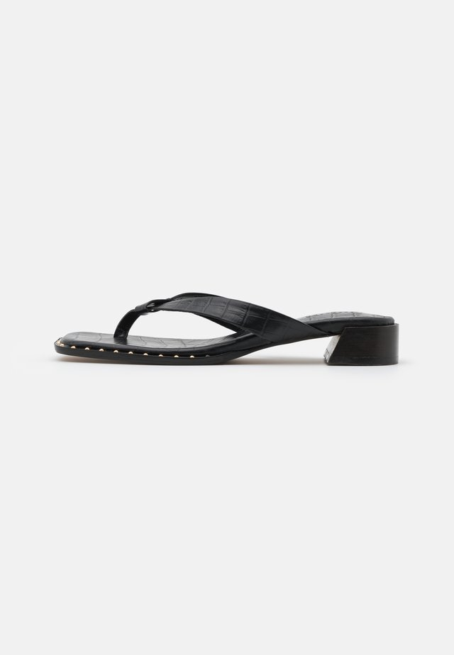 VERSE TOE POST - Sandalias de dedo - black