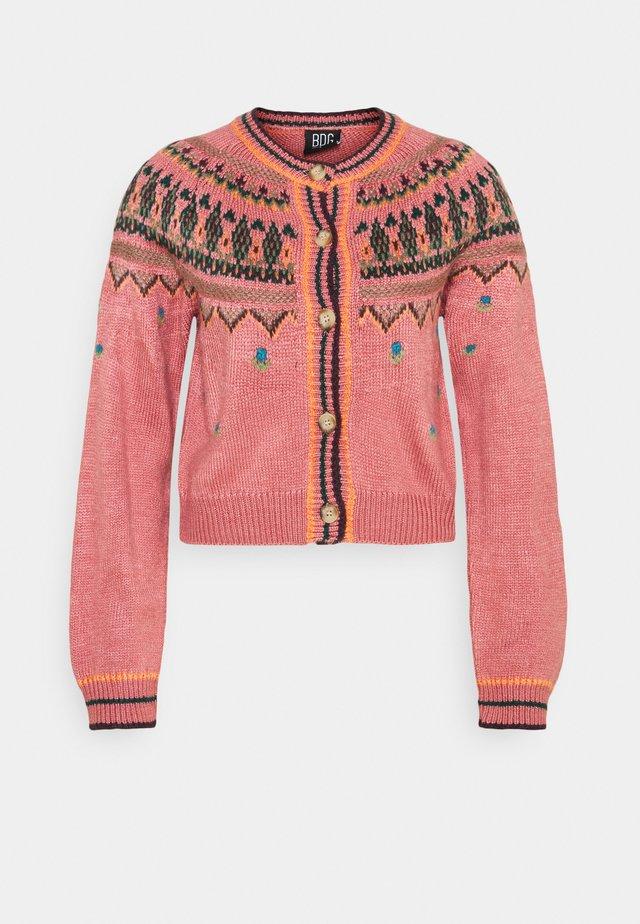 YOKED RAGLAN  - Cardigan - pink
