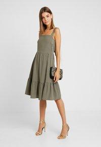 YAS - YASLINE STRAP DRESS - Day dress - botanical garden - 1