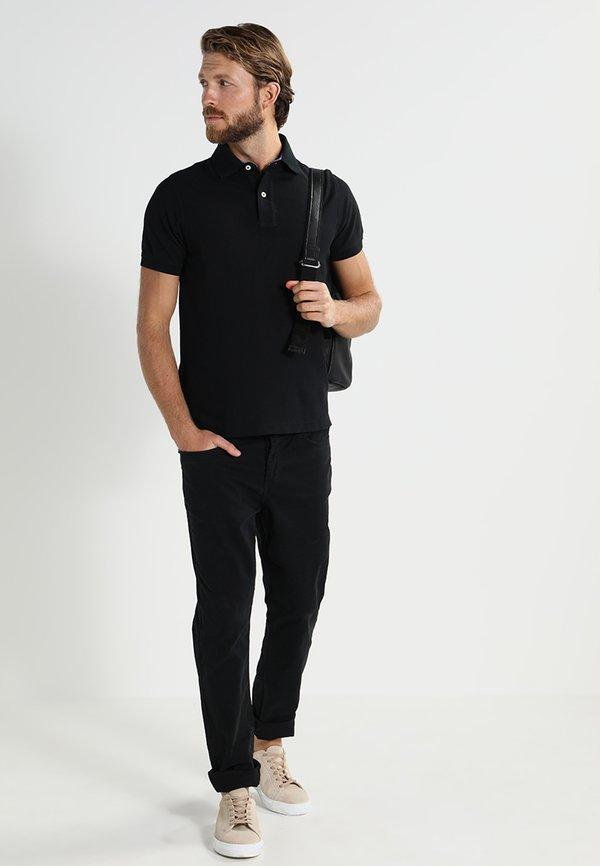 Tommy Hilfiger PERFORMANCE SLIM FIT - Koszulka polo - black/czarny Odzież Męska BPPA