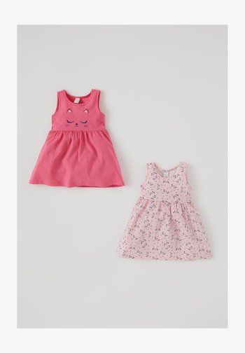 2 PACK - Day dress - pink