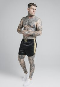 SIKSILK - MUAY TIE - Shorts - black/gold - 1