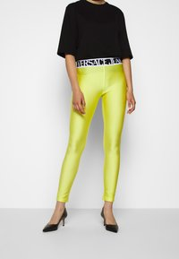 Versace Jeans Couture - Leggings - Trousers - verde mela - 0