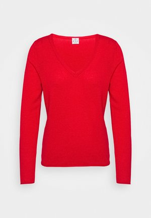 Sweter - lipstick red