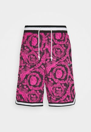 DRY DNA SHORT PRINTED - Sports shorts - black/fireberry/white