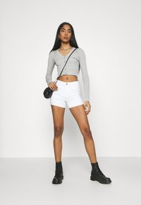 Even&Odd - Cardigan - mottled light grey - 1