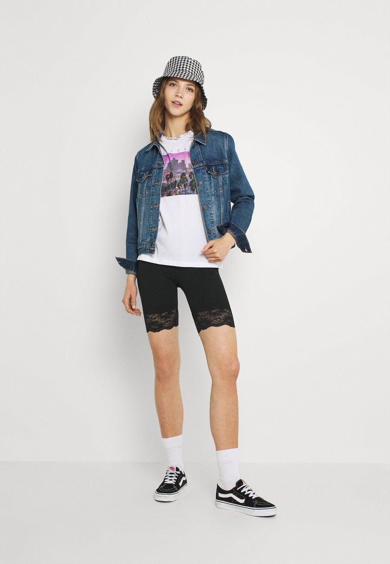 Gina Tricot - BASIC BIKER LACE 2 PACK - Shorts - black