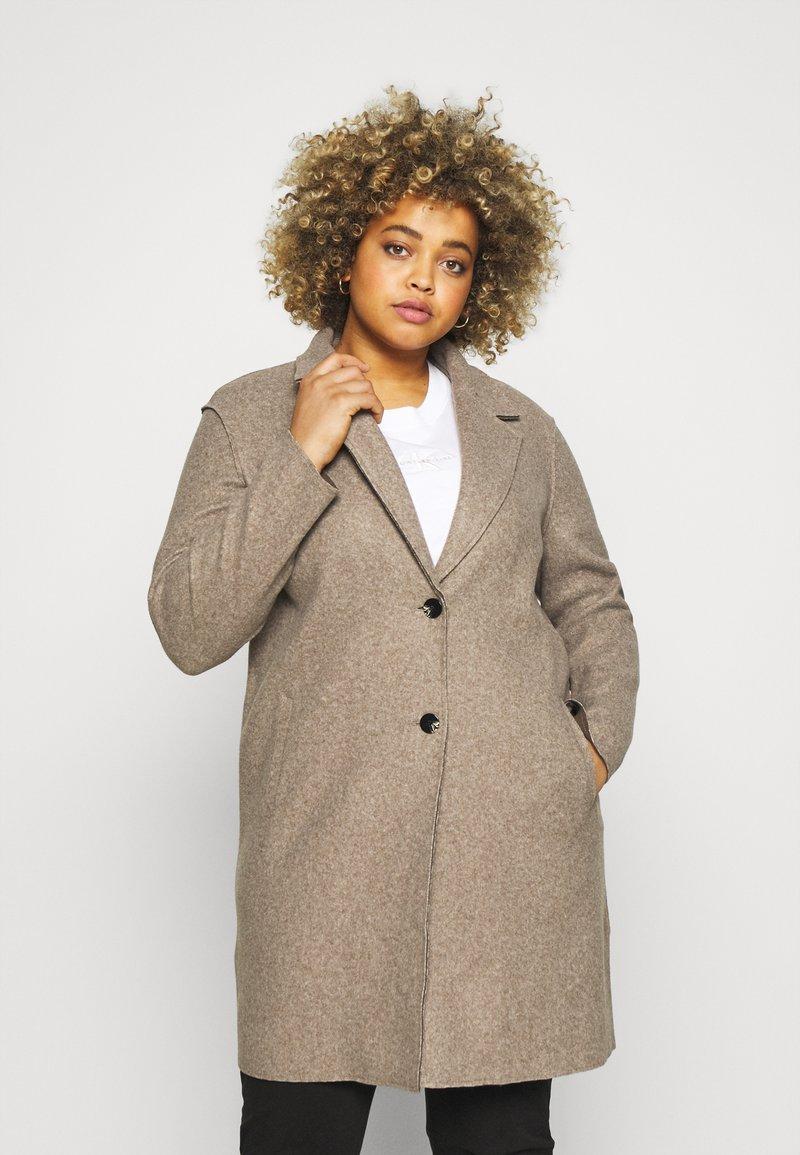ONLY Carmakoma - CARCARRIE BONDED COAT - Classic coat - caribou melange