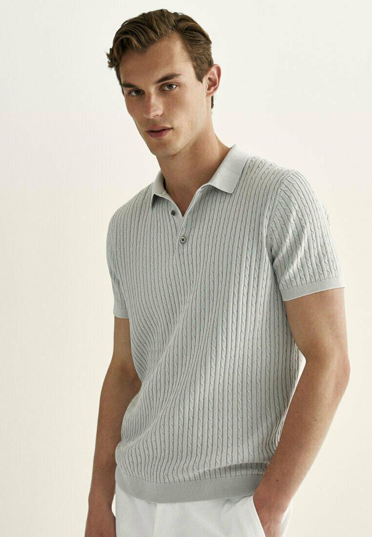 Massimo Dutti - Polo shirt - light grey