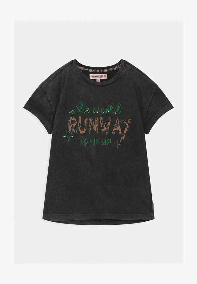 HELIEZE PROJECT RUNWAY  - T-shirt con stampa - deep black