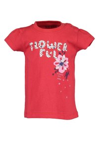 Blue Seven - LIFE IS FLOWERFUL - Print T-shirt - red - 1