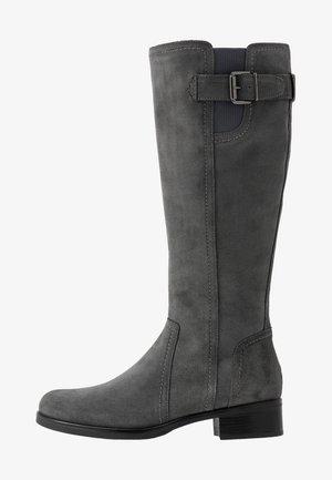 LEATHER BOOTS - Vysoká obuv - grey
