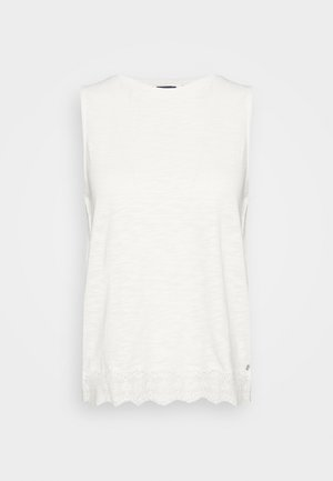 MIX VEST - Topper - chalk white