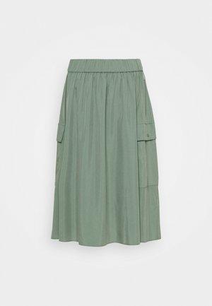 DEEP SKIRT WOMAN - Pleated skirt - green shadow