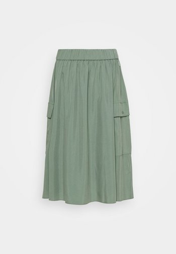 DEEP SKIRT WOMAN - Falda plisada - green shadow