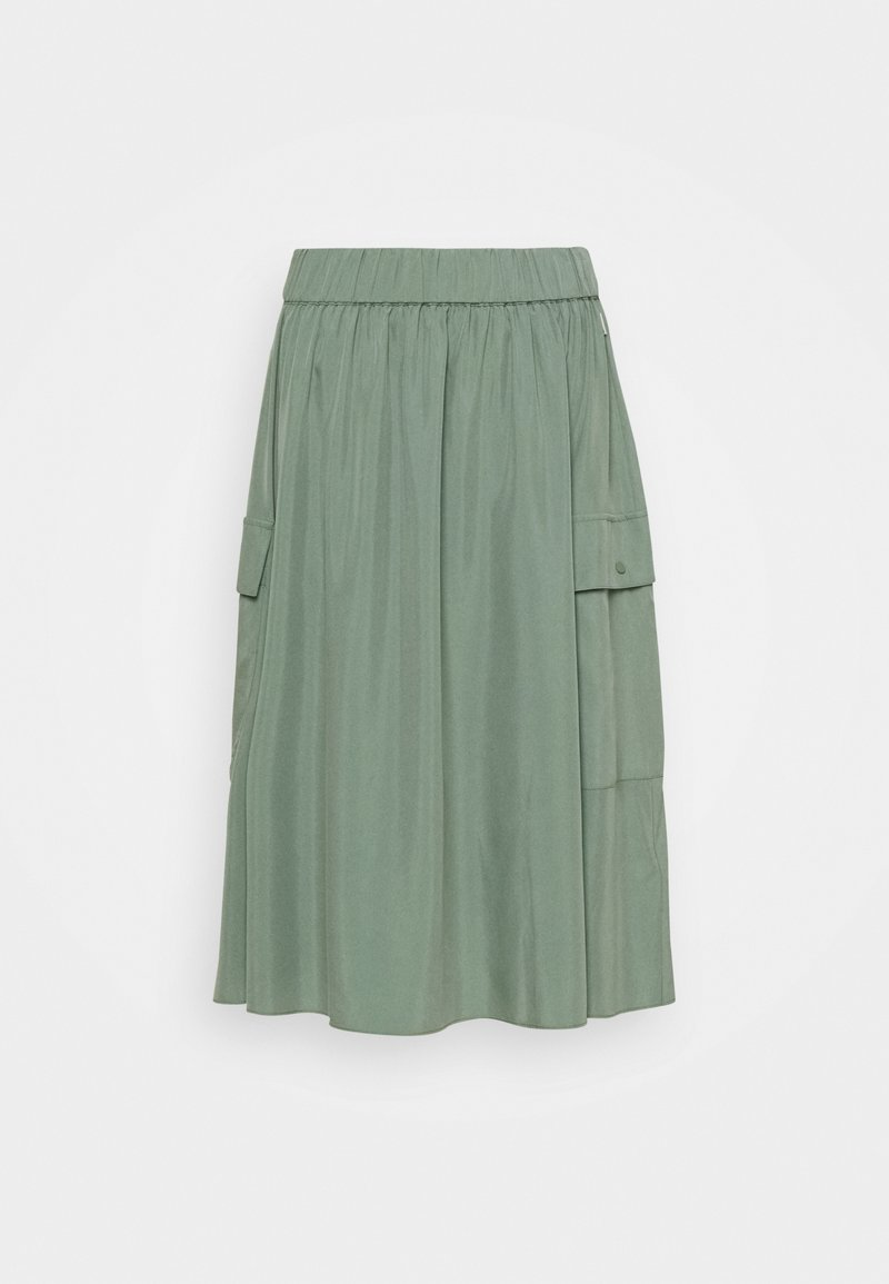 Ecoalf - DEEP SKIRT WOMAN - Pleated skirt - green shadow