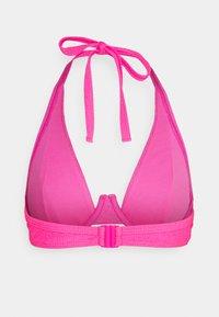 Wolf & Whistle - TEXTURED SCRUNCH FABRIC HIGH APEX - Bikini top - pink - 1