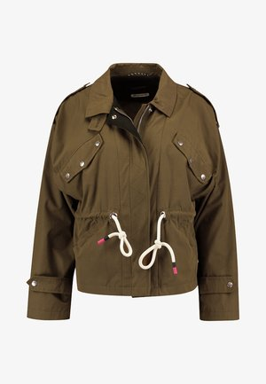LOOSE FIT JACKET WITH SPECIAL DETAILING - Summer jacket - military green