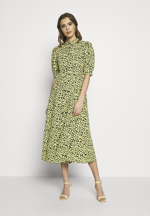 FLORAL DRESS - Shirt dress - yellow