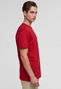 KARL LAGERFELD - IKONIK - Basic T-shirt - red - 4