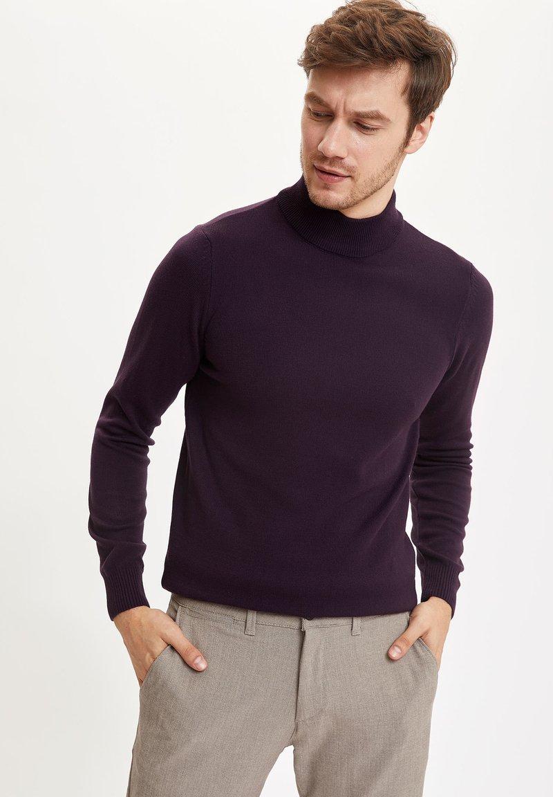 DeFacto - Stickad tröja - purple