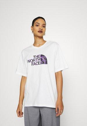EASY TEE - Print T-shirt - white-gravity purple
