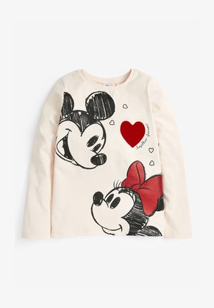 MINNIE MOUSE AND MICKEY HEART - Long sleeved top - off-white