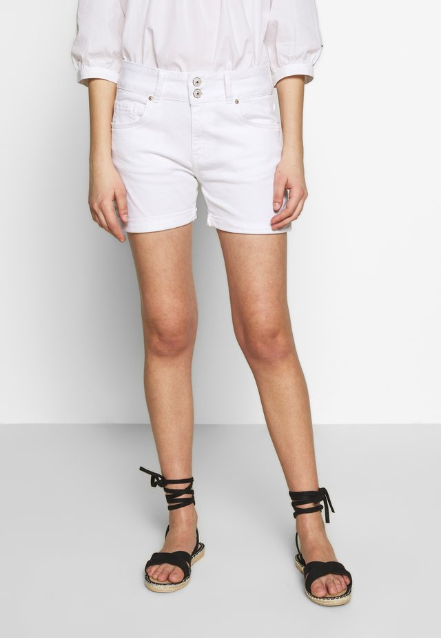 BECKY - Denim shorts - white wash