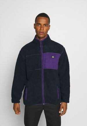CHUTE - Fleece jacket - dark navy/lilac